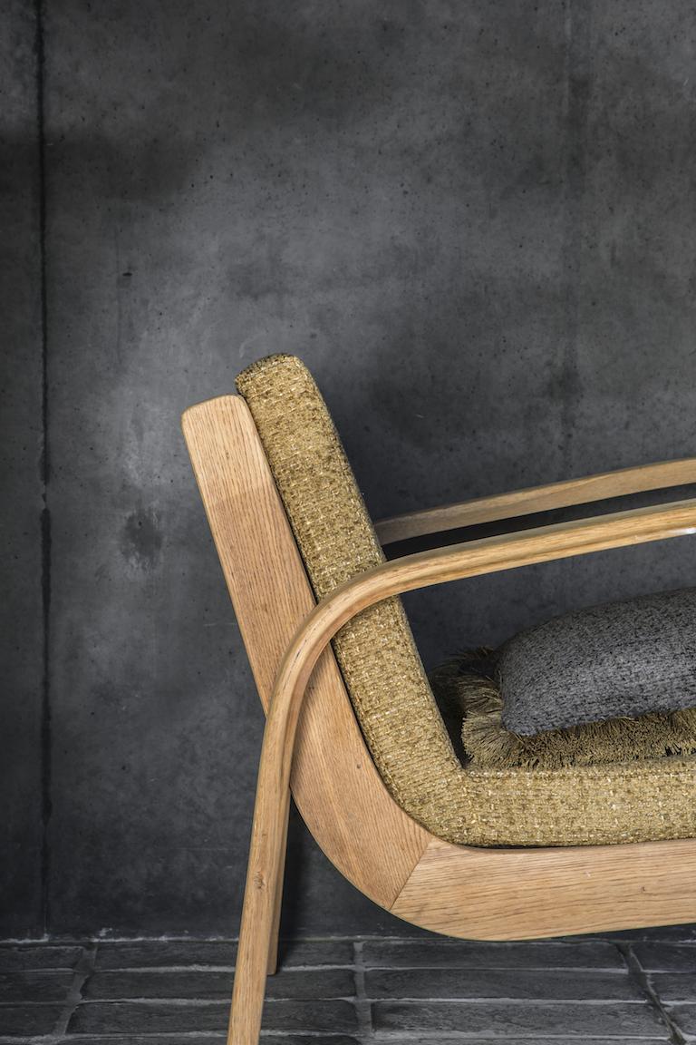 Retro stoel meubelstof Yang CH2959